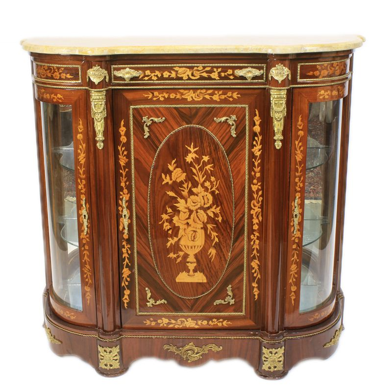 Marqueterie vitrine-commode Juliëtte