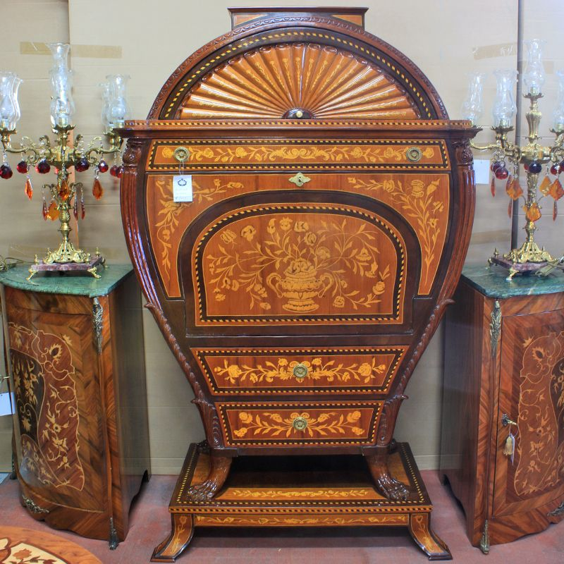 Barok secretaire marqueterie exclusive