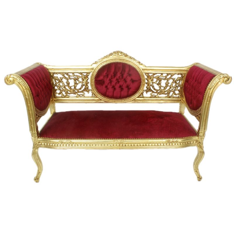 Chaise longue small zilver-paars